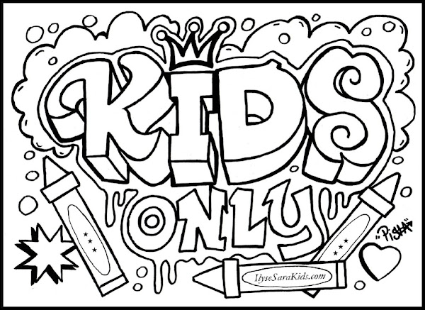 Cool Graffiti Bubble Letters Coloring Page