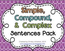 https://www.teacherspayteachers.com/Product/Simple-Compound-Complex-Sentences-Review-Pack-1091799