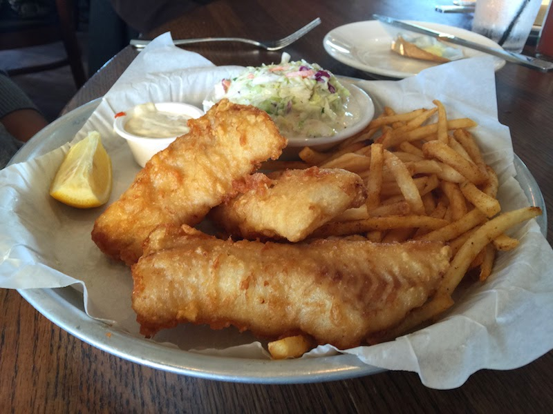 Fish and chips at Sam's Chowder House