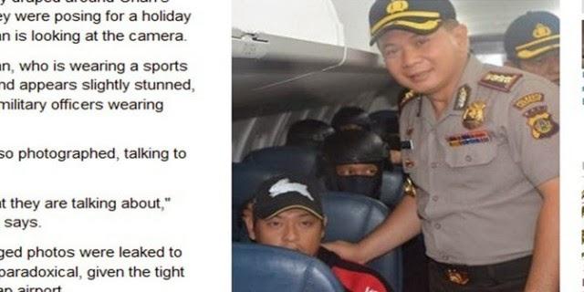 Foto Selfie Polisi Dengan Bali Nine
