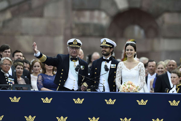 Princess Sofia and Prince Carl Philip hosted by King Carl Gustaf and Queen Silvia at The Royal Palace