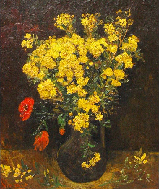 "Picture of the painting ""Poppy Flowers"" by Vincent van Gogh, 1887, was stolen from Cairo's Mohammed Mahmoud Khalil Museum in August 2010"