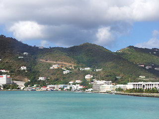 The coastline of Tortola