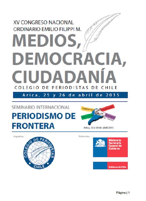 Acta de Acuerdos XV Congreso Nacional del Colegio de Periodistas de Chile