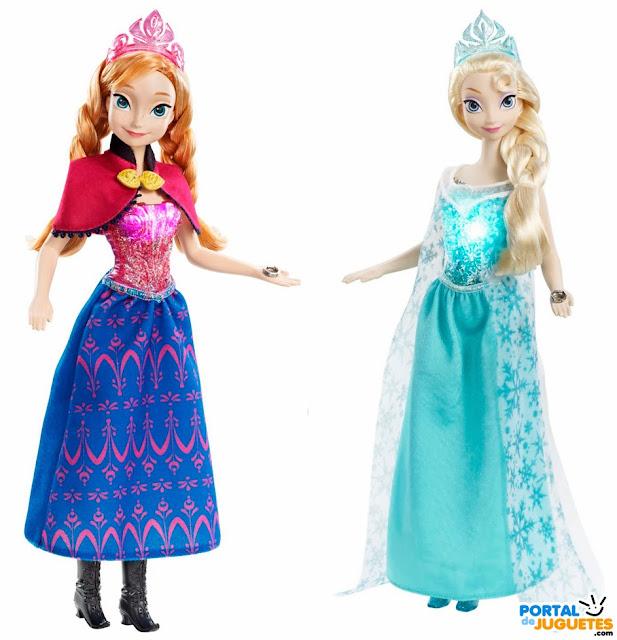 muñecas anna elsa frozen mattel