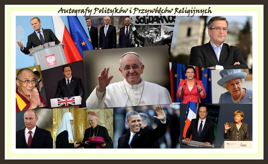 Autografy Polityków i Przywódców Religijnych
