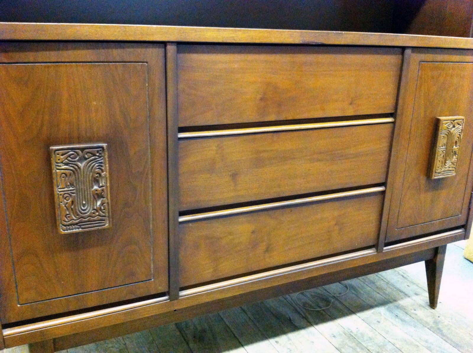 junk2funk mid century bassett furniture credenza hutch