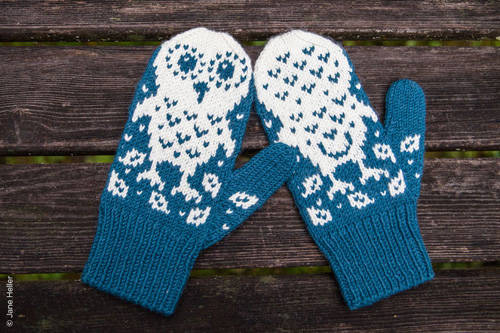 Owl Mittens Knitting Pattern : My Owl Barn: Horatio and Oren: Owl Mittens