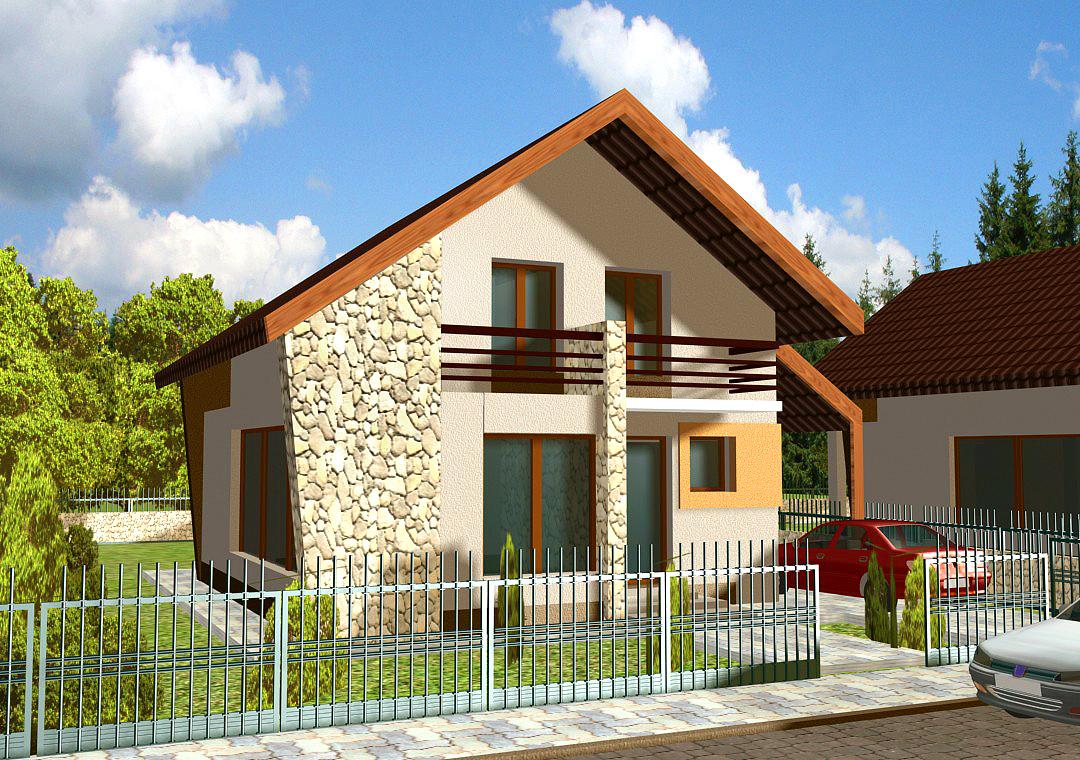 casă mică proiect Cernica V4