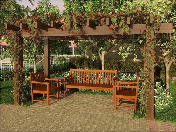 trelica jardim curitiba:montados em inúmeras situações, em um cantinho, nomeio de um jardim