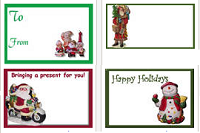 Image: Collectible-themed Holiday Gift Tags