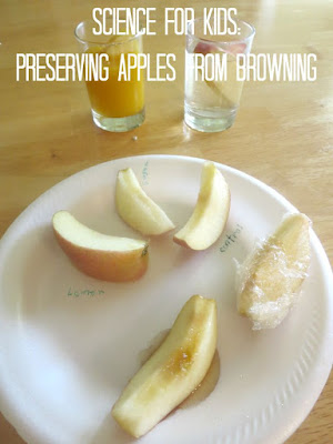 Design ways to preserve cut apples from browning