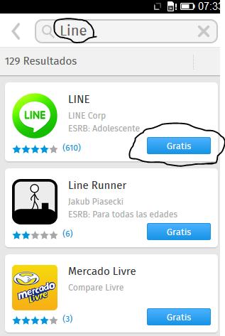 Line para Firefox OS
