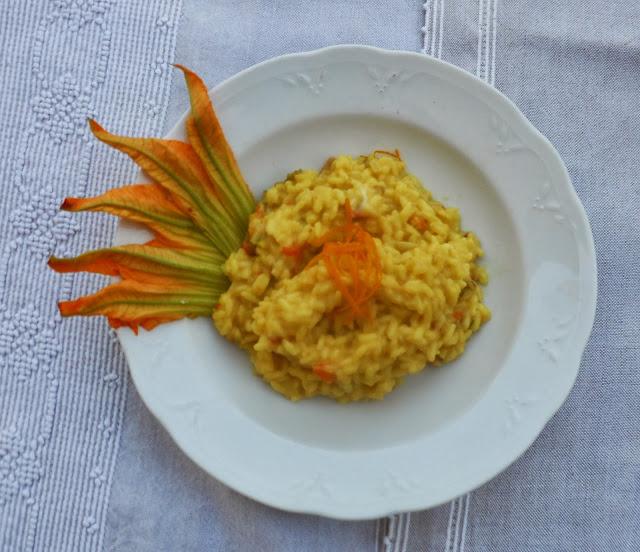 risotto fiori di zucca e arancio