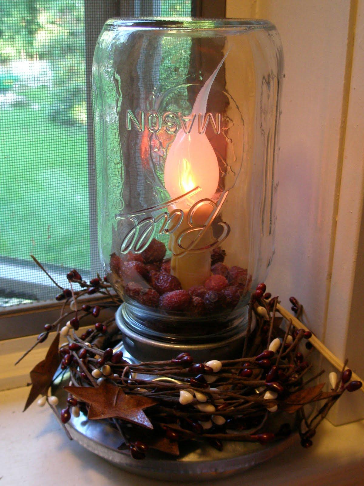 Karen 39 s sparkly world craft mason jar feeder light for Diy chicken feeder light