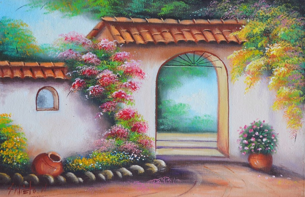 Cuadros modernos pinturas y dibujos paisajes r sticos - Cuadros para dormitorios rusticos ...
