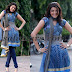 Kajal Printed Blue Salwar Kameez