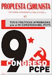 TESIS IX CONGRESO  PCPE