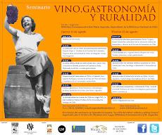 Participacion en Seminario Vino Gastronomía y Ruralidad 08/2011