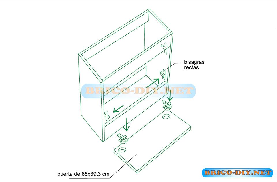 Mueble de cocina bajo para lavaplatos plano mueble de for Muebles de cocina planos pdf