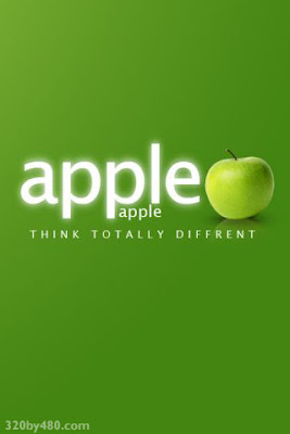 Apple logo Green