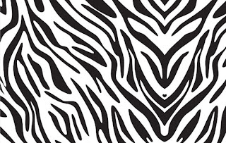 Zebra print background for computer