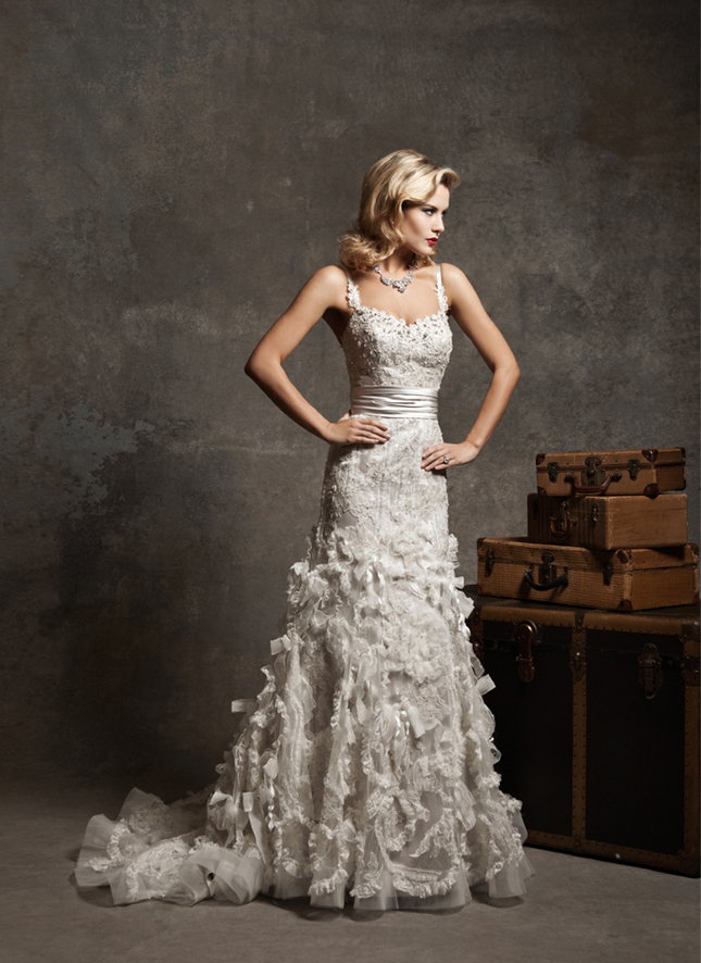 Mermaid Wedding Dresses With Ruffles
