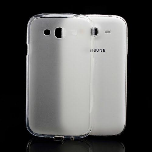 Frosted TPU Jelly Case for Samsung Galaxy Grand I9080 Grand Duos I9082 - Transparent