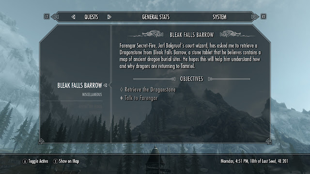skyrim journal screenshot