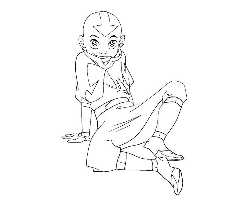 Printable Aang 7 Coloring Page