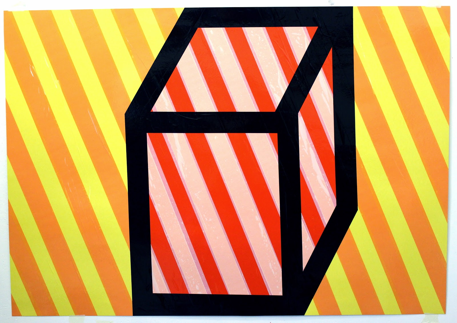 Cube. tape art artist nikolay vasilyev