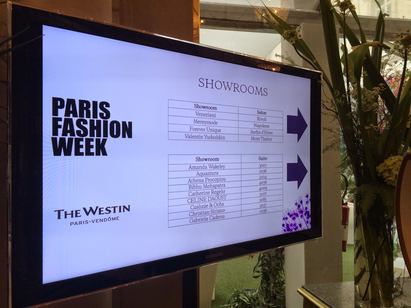 Fashion Week at The Westin, Paris