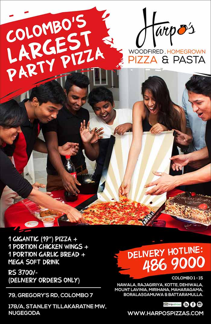 Share the love with Colombo's largest Party Pizza Deal! Call 486 9000