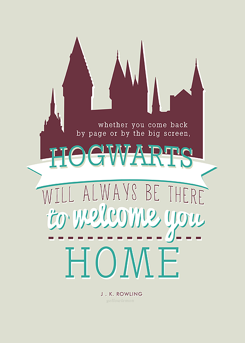 here's to never growing up :): Hogwarts is home :D