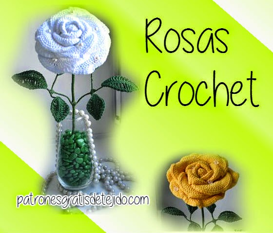 Como hacer rosas tejidas al crochet para decoración