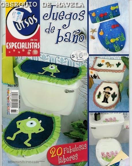 Moldes para juegos de ba o revistas de manualidades gratis for Revistas de decoracion banos