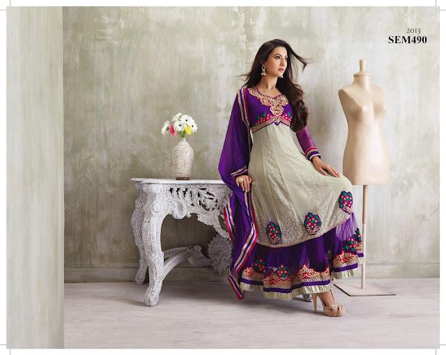 Gauhar Khan In Designer Long Anarkali Suit |Wholesale