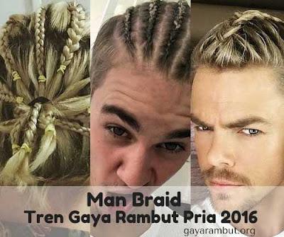 gaya kepang rambut pria - man braid_9855247