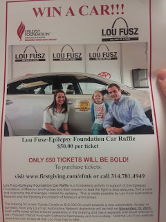 Epilepsy Foundation, Car Raffle, Win a car, St Louis raffle