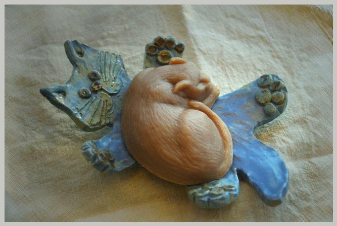 Kylppärikivaa, kissa-saippua ja saippualusta