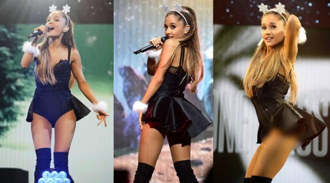 Aksi Seksi Joget Ariana Grande Sampai tak Sadar Roknya Terbuka