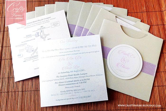 Wedding card malaysia crafty farms handmade lilac and silver popular wedding card printing in malaysia kuala lumpur stopboris Choice Image