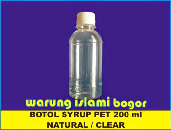 Jual Botol Plastik 200 ml Clear / Bening Untuk Kemasan Madu dan Tinta
