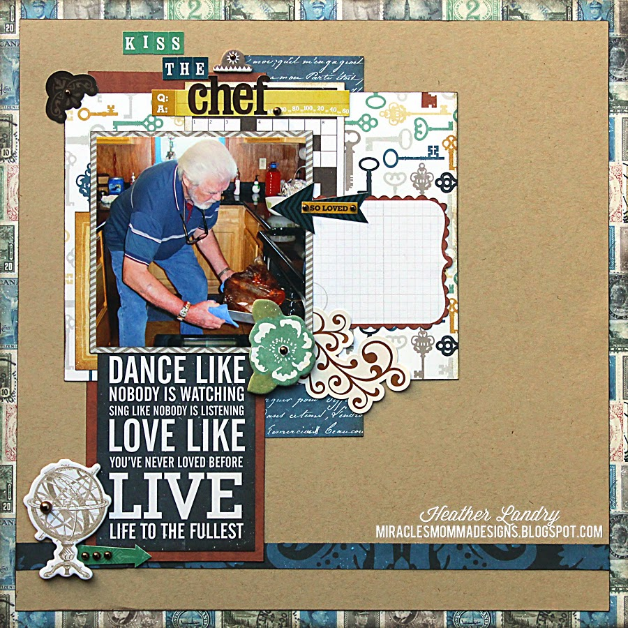 Thanksgiving_Grandfather_Cook_Scrapbook Page