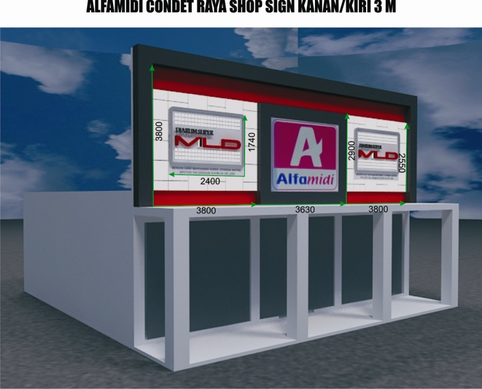 Interior alfamart home design idea for Ukuran kitchen set