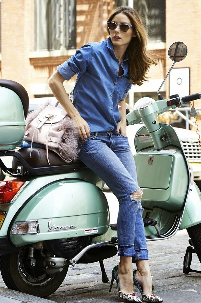 olivia palermo outfit denim fashion blogger italiane mariafelicia magno colorblock by felym mariafelicia magno fashion blogger tendenze primavera estate 2015 come abbinare la camicia jeans abbinamenti camicia jeans