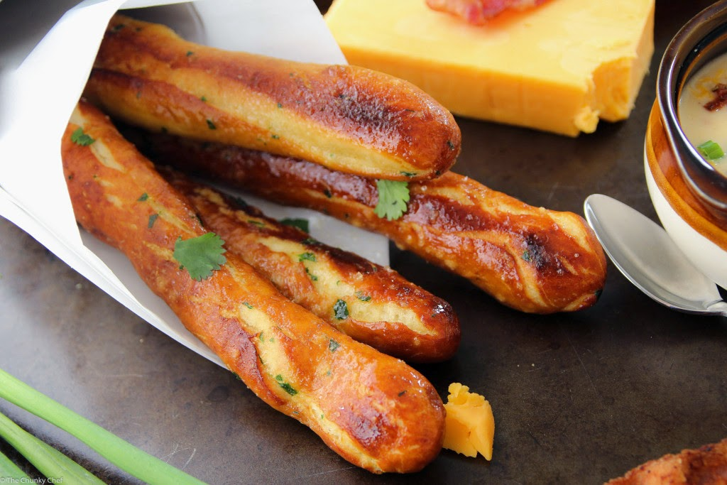 soft baked pretzel sticks