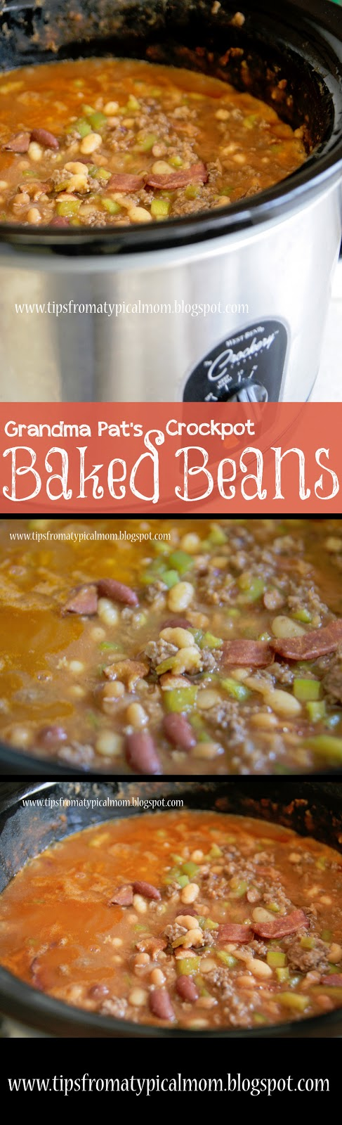 Grandma Pat's Crockpot Baked Beans - Tips from a Typical Mom