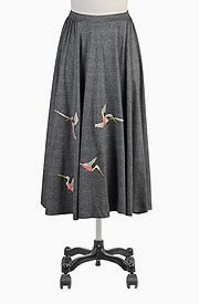 Hummingbirds cotton knit skirt