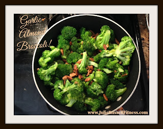 Finding The Fit Girl Inside Me: Garlic Almond Broccoli